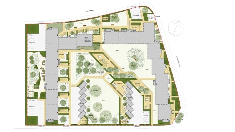Plantegning af projektforslag, AB Grønnehøj