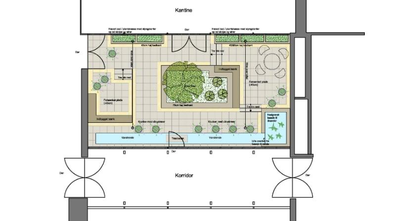 Dispositionsplan for Orangeri
