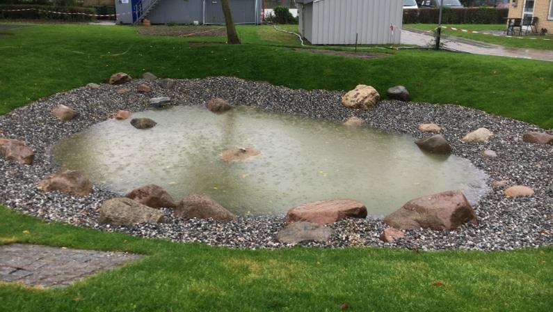Toftehøjen, lokal afledning af regnvand
