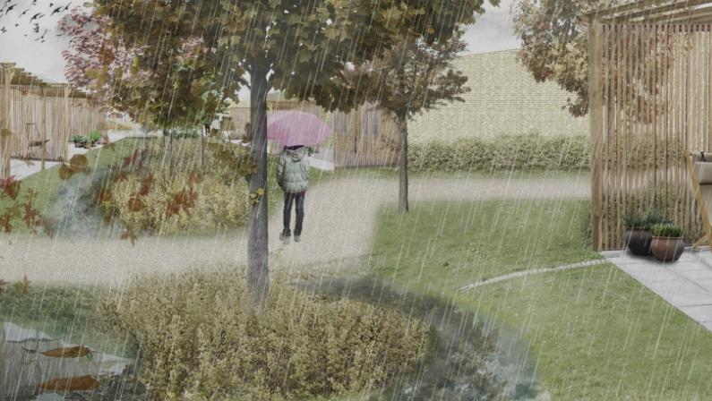Stedet ændrer karakter med årstiderne