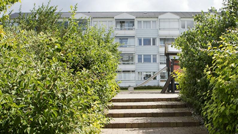 Baldersbo Afd. 10, Ballerup, trappe op til fælled