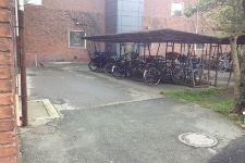 Foto af eksisterende skolegård