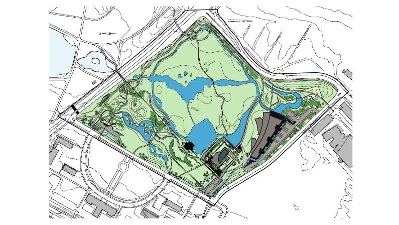 Plan af forslag og fredet vådområde, Reykjavik Wetlands