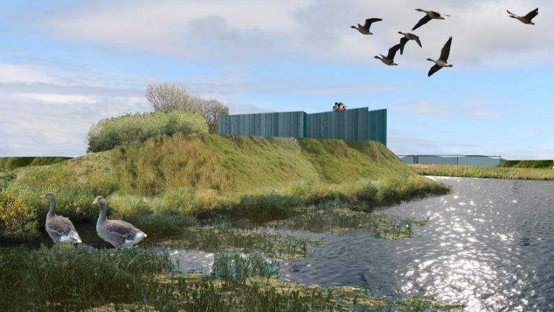 Visualisering af vådområdet, Reykjavik Wetlands