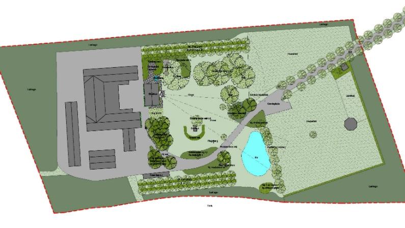 Dispositionsforslag til Hanehøj park