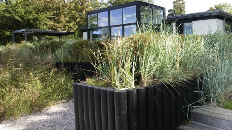 Foto af haven ved fjorden