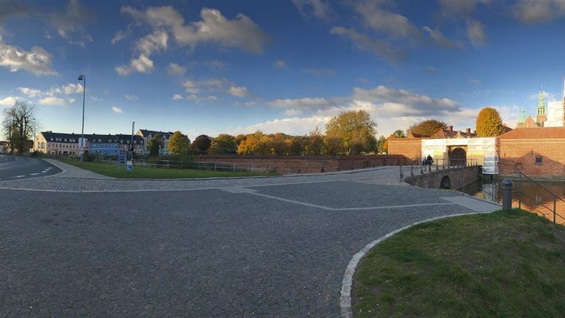 Eksisterende indgang til Frederiksborg Slot
