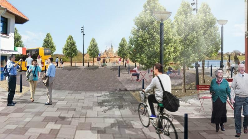 Visualisering af nyt byrum ved slottet, Hillerød