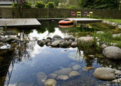 Vedbæk, have med svømmesø
