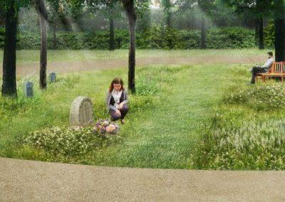 Gørlev Kirkegård, skovafsnit
