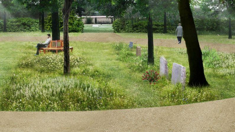 Visualisering af skovafsnittet, Gørlev Kirkegård
