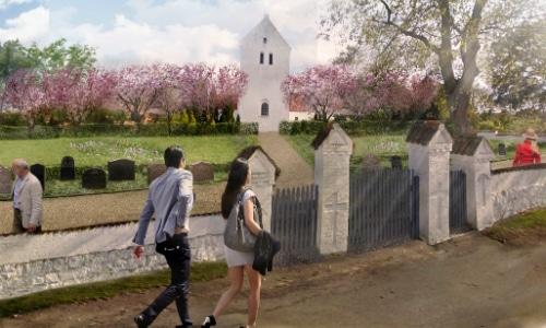Visualisering af Værslev Kirkegård
