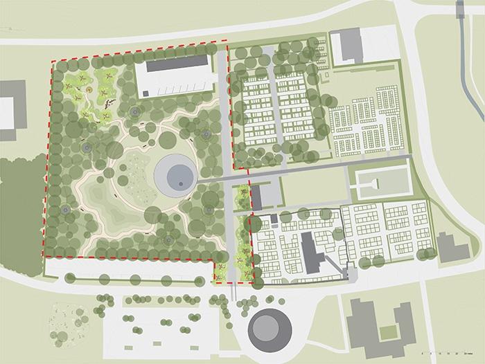 Vallensbæk kirkegård, forslag til skovafsnit