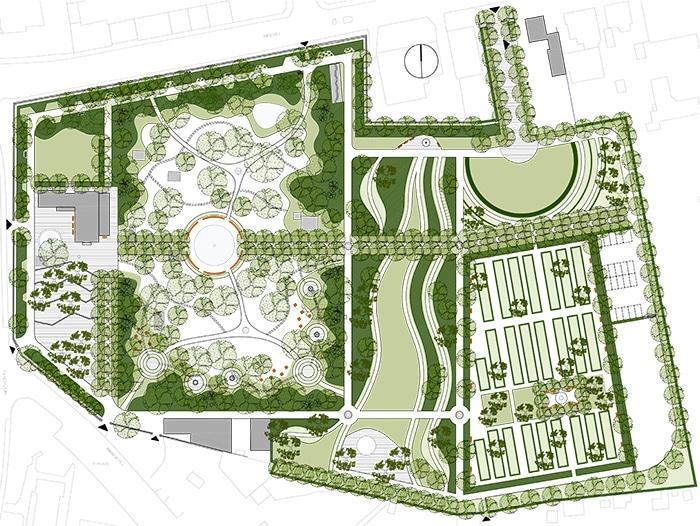 Ringsted Kirkegård, forslag udviklingsplan