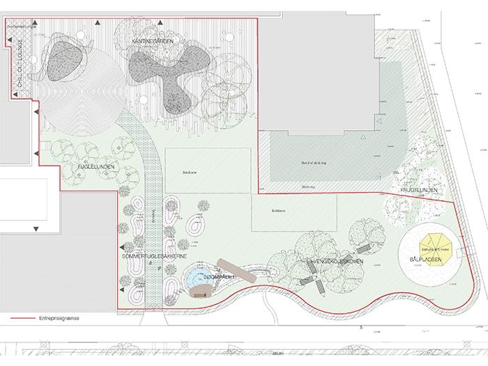 Kasperskolen, kantinegård og park